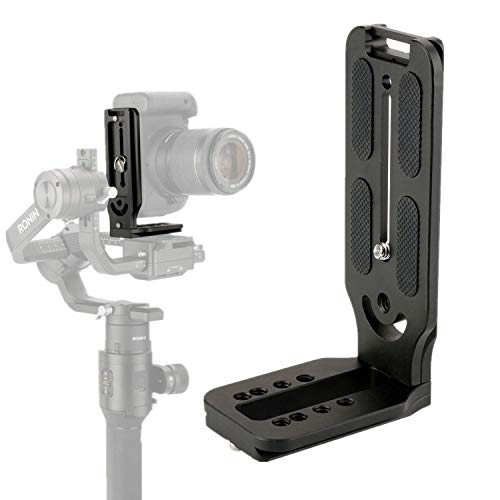 DSLR Camera L Bracket Plate for Gimbal Stabilizer 1/4'' 3/8'' Screw Compatible with Zhiyun Smooth 4 Q Crane DJI Osmo Mobile 2 Ronin S Hohem iSteady YouTube Instagram Live Streaming Vertical Video