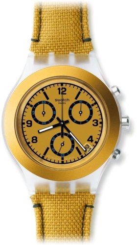 Swatch Mustardy Chronograph Plastic Mens Watch SVCK4069