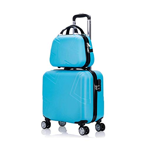 Frosted Case Hardshell - Qzny Cosmetic Case, Travel Holdall Suitcase Boarding The Chassis Fashion Universal Wheel Trolley Case Ladies Frosted Hardshell Holiday Business Trips (Color : F, Size : 392241cm)