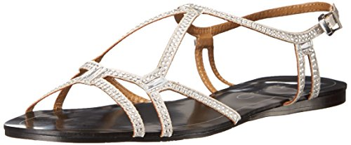 Report Signature Women's Sarasota Dress Sandal, Silver, 6 M US