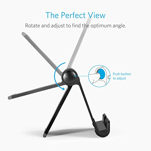 Anker Portable Multi-Angle Stand for Tablets, e-readers and Smartphones, Compatible with iPhone X/8/8 Plus/7/7 Plus, Samsung Galaxy S8/S7/Note 8, iPad Pro 9.7/10.5, Air, mini, Pixel 2 and More (Black) by Anker (Image #2)
