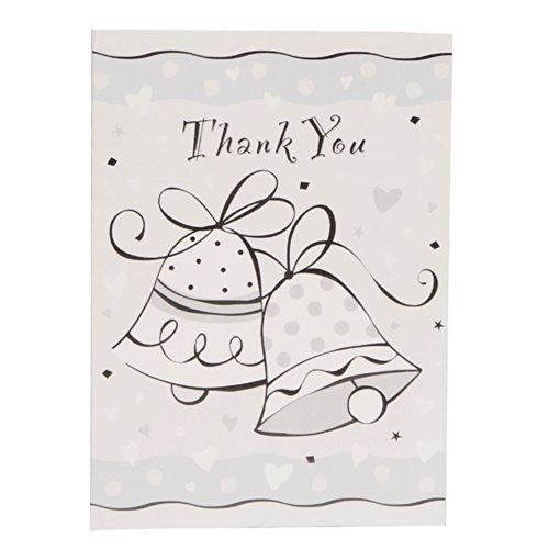 Wedding Bells Thank You Note Cards, 8ct (8 Wedding Bells)