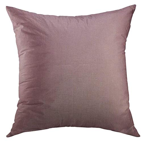 Mugod Decorative Throw Pillow Cover for Couch Sofa,Pink Old Vintage Dusty Rose Parchment Blank Antique Home Decor Pillow case 18x18 Inch (Pillow Mauve Velvet)