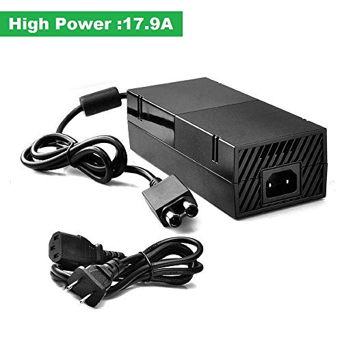 BRIGHTSHOW Xbox One Power Supply Brick, AC Adapter Power Supply Box Cable Charger Cord Replacement for Microsoft Xbox One 100-240V, Black (Xbox one Charging Station)