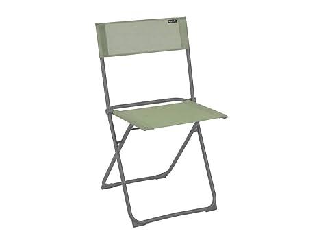 Lafuma Silla plegable compacta, Utilizable en la terraza, jardín y balcón, Balcony, Batyline, Verde, LFM2600-8557