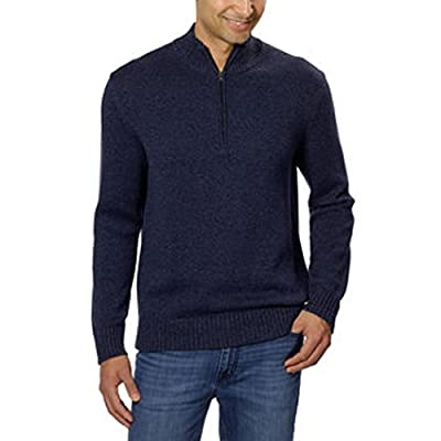 Calvin Klein Men's Cotton 1/4 Zip Sweater-Midnight ( X-Large)