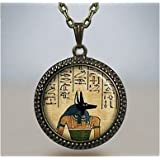 Anubis pendant, Anubis necklace charm, Egyptian jewelry, Ancient Egyptian God of the Dead, Guardian of Souls, Anubis jewelry