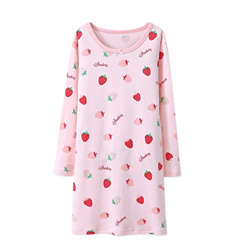 AOSKERA Girls' Pink Nightgowns 100% Cotton Sleepwear Cartoon