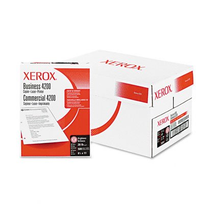 "Xerox Business 4200 Copy Paper 20# 92 Bright White 3HP, 8.5"" x 11"", 500 Sheets/Ream, 10 Reams/Ctn (3R2641)"
