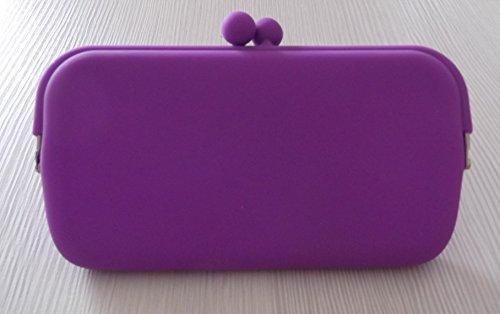 Tasche, Federmäppchen, Tür Artikel aus Silikon–für Schlüssel Währung Telefon Violett