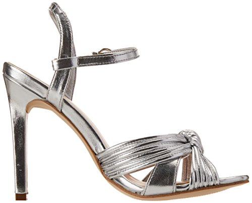 Andrea Mujer 2451848 para Plata Tacón de Zapatos vnwv1Fq6xr