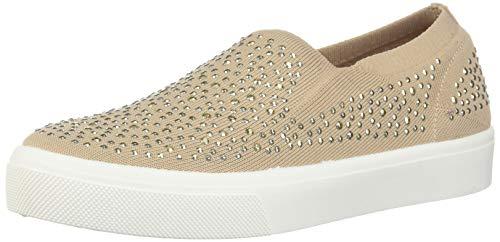 Skechers Womens Poppy-Studded Affair. Scattered Rhinestud Knit Slip On. Sneaker