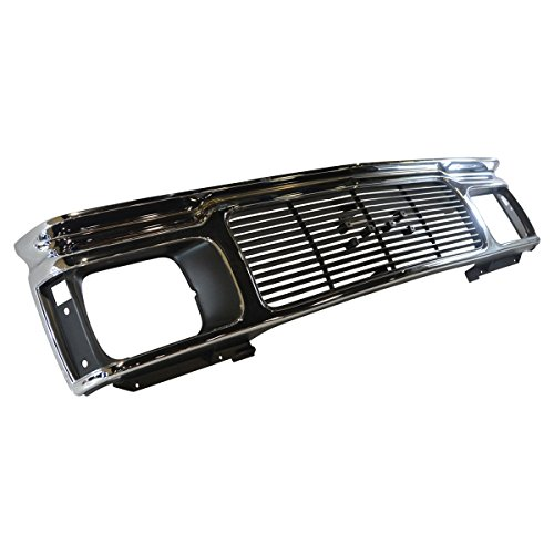 Front Grille Assembly Chrome & Black for GMC S-15 S15 Jimmy Sonoma Pickup Truck