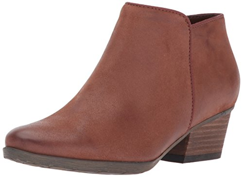 Waterproof Heels Leather (Blondo Women's Villa Waterproof Ankle Bootie, Cognac, 10 M US)