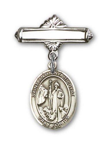 Icecarats Créatrice De Bijoux En Argent Sterling St. Anthony De Charme Egypte Broche De Badge 1 X 5/8