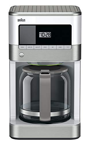Braun KF6050WH Brewsense Drip Coffee Maker, 12-Cup (white) (Best 12 Cup Coffee Maker)