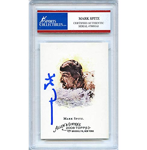 Mark Spitz Autographed Signed 2008 Allen and Ginters Trading Card - Certified Authentic