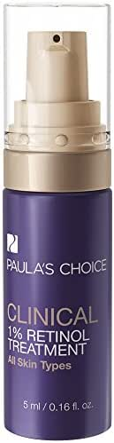 Paula's Choice CLINICAL 1% Retinol Treatment Cream | Peptides, Vitamin C & Licorice Extract | Anti-Aging & Wrinkles | Travel Size