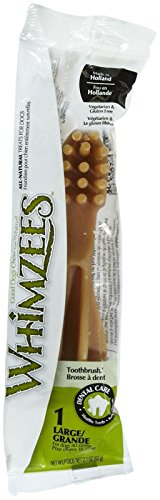 Whimzees Toothbrush Star Flow Wrap Doggie Dental Chews, Large (1 Pack)