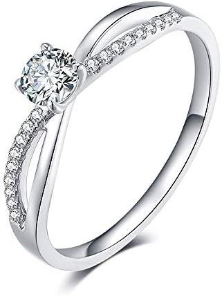 指輪ジュエリージュエリー色シルバーシンプル細身リングジルコニア婚約指輪結婚指輪きらきらバレンタインデープレゼントCzにアクセサリー専用ケース付き