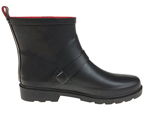 Ankle Solid Strap Boot Rain Matte Capelli Buckle w York New Women's vWwIRO8q