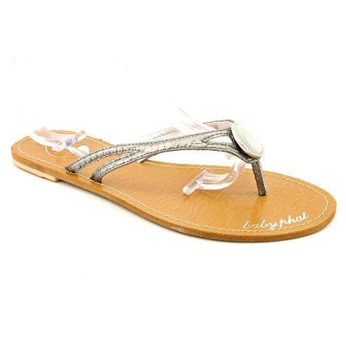 Phat Farm - Sandalias de vestir para mujer metálico
