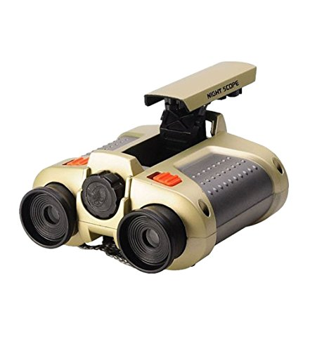 Elikeable Night Scope Binoculars 4x30 Surveillance Telescope with Pop-up Spotlight and Night-beam Vision Fun Cool Toy Gift for Kids Boys - Night Spotlight Vision