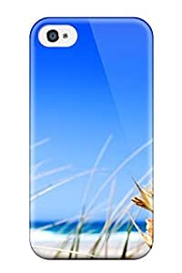 New Style JessicaBMcrae Hard Case Cover For Iphone 4/4s- Grass Beach