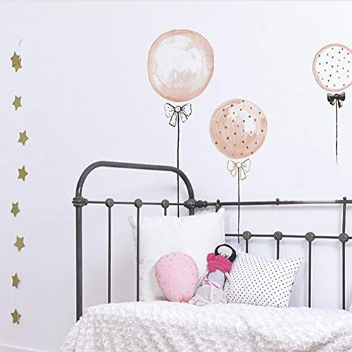 - huangliao Pink Balloons Wall Sticker Decal Removable Peel and Stick Vinyl Art Mural Home Decor for Kids Baby Girls Bedroom Nursery