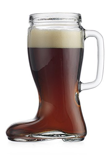- Recycled Glass Oktoberfest Style 23 Oz Handled Pitcher Drinking Beer Boot Das Boot