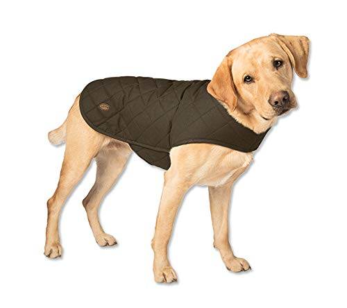 Orvis Quilted Waxed Cotton Dog Jacket/Quilted Waxed-Cotton Dog Jacket, Green, Small