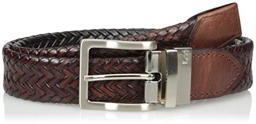 Lee Men's Reversible Braided Belt, Brown/black, 40 (Braided Reversible Leather)