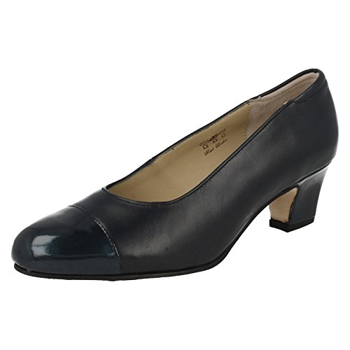 Ladies Equity Wide Fitting Court Shoes - Camilla Navy ZwrdS7x