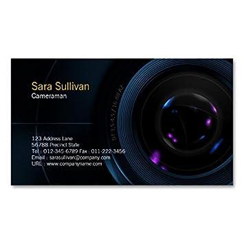 Objectif De Camera Carte Visite Cameraman