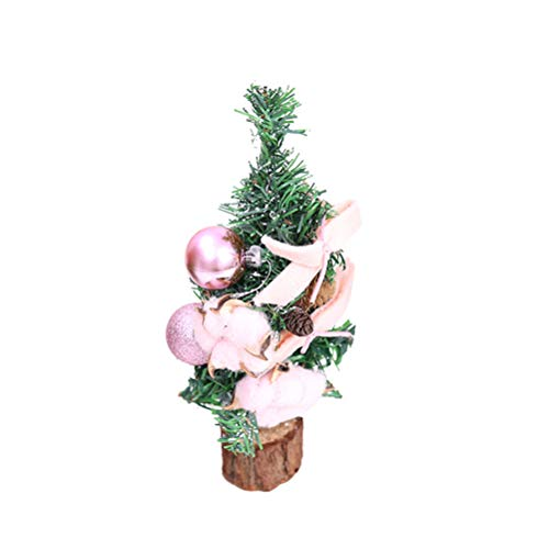 - BESTOYARD Christmas Tabletop Tree with Wood Base Xmas Desktop Bonsai Craft Decor Home Party Ornaments