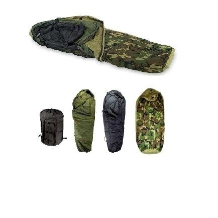 ORIGINAL US MILITARY ISSUE – ECWS WOODLAND MODULAR SLEEPING BAG SYSTEM 4 PIECES, Outdoor Stuffs