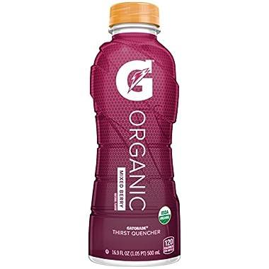 G Organic, Mixed Berry, Gatorade Sports Drink, Organic Hydration, USDA Certified Organic, 16.9 oz. Bottle (Pack of 12)