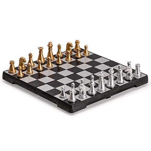 Yellow Mountain Imports Travel Magnetic Chess Mini-Set, 6.3 Inches
