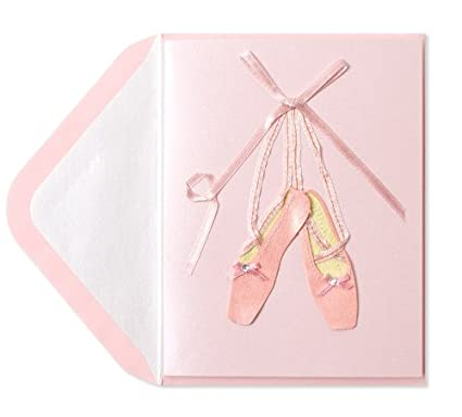 Amazon Birthday Card Handmade Ballet Shoes By Papyrus
