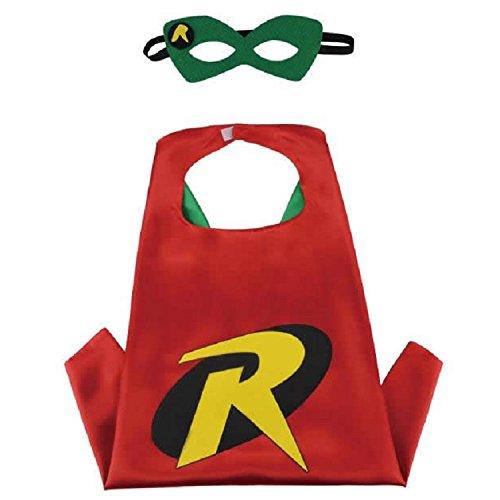 Superhero CAPE & MASK SET Kids Childrens Halloween Costume Robins