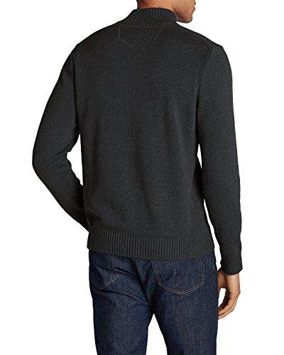 Eddie Bauer Sweater Voor Heren, Handgemaakt, 1/4-zip Zwart