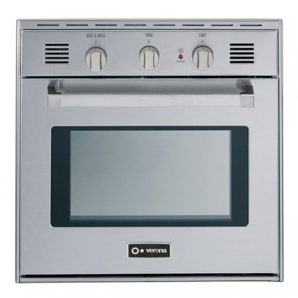 """Verona VEBIG24NSS 24"""" Single Gas Wall Oven with 2.0 cu. ft."""
