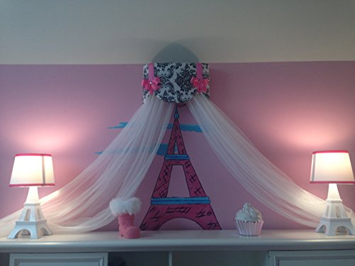 Tent Cottage Kids Furniture (Crib Canopy Nursery Bed Crown Cornice Teester Swag Suzette Bows Damask Bedroom FrEE Curtains Baby Girls Custom Design So Zoey Boutique SALE)