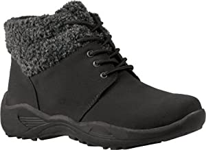 Propet Women's Madison Ankle Lace Boot,Black,11 B US