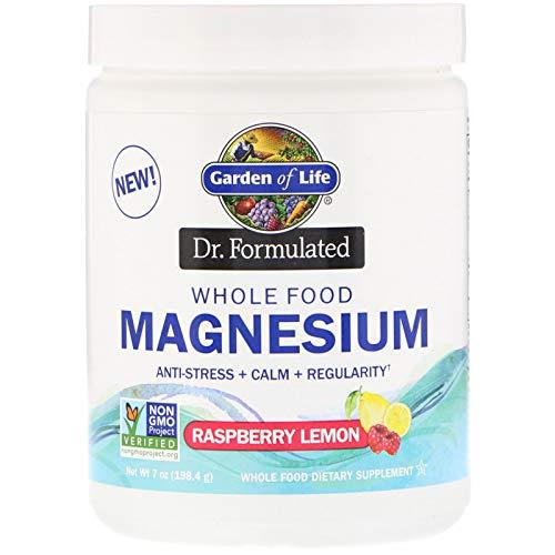 Garden of Life, Dr. Formulated, Whole Food Magnesium Powder, Raspberry Lemon, 7 oz (198.4 - Food Whole Life