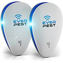 Ultrasonic Pest Mosquito Repellent Plug Control EverPest - Professional Home (2 Pack) Electronic Indoor Repeller - Repels Away Fleas, Bugs, Rodents, Roaches, Mice, Insect, Ants, Spiders, Rats