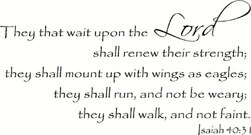 31 Wall (Isaiah 40:31 Wall Art, Those That Wait on the Lord Shall Renew Their Strength, They Shall Mount up with Wings As Eagles, They Shall Run and Not Be Weary, They Shall Walk and Not Faint, Creation Vinyls)