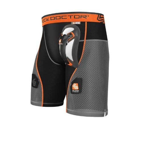 - Shock Doctor Men's Ultra Hybrid Hockey Shorts with Ultra Carbon Flex Cup, XX-Large