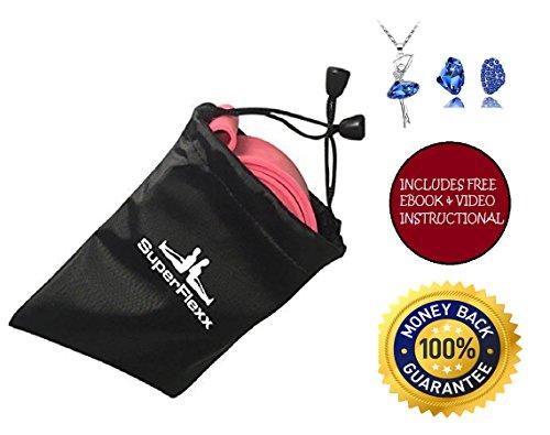 Superflexx Ballet Stretch Band with Nylon Bag, Pink