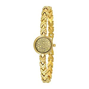 Mount Royale Fidha Collection Women's Gold Dial Brass Band Watch - 1501